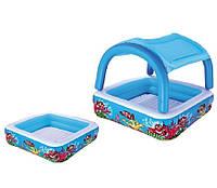 Bestway 52192, Детский надувной бассейн с навесом 147х147х122 см, фото 1