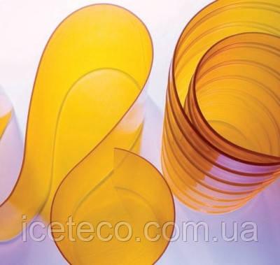 Лента ПВХ (200*2,0) прозрачная жёлтая с