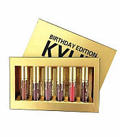 Набор матовых помад Kylie birthday gold edition