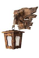 """Фонарь подвесной деревянный """"Андерсен"""" состаренный темный на 1 лампу"""
