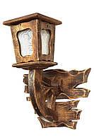 """Фонарь напольный деревянный """"Андерсен"""" состаренный темный на 1 лампу"""