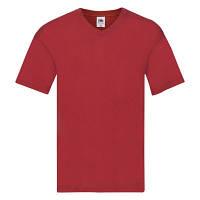 Мужская футболка с v образным вырезом Fruit of the Loom красный