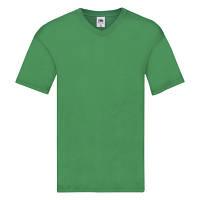 Мужская футболка с v образным вырезом Fruit of the Loom ярко-зеленый
