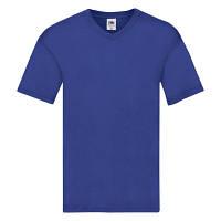 Мужская футболка с v образным вырезом Fruit of the Loom ярко-синий