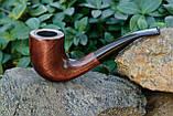 Трубка KAF231 Bent в стиле Шерлока Холмса классическая из дерева груши с эбонитовым мундштуком, фото 2