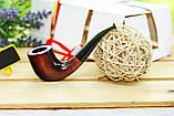 Трубка KAF231 Bent в стиле Шерлока Холмса классическая из дерева груши с эбонитовым мундштуком, фото 5