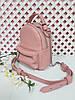 "Рюкзак-сумка""Мини"" натуральная кожа, розовый флотар, фото 2"
