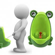 """Дитячий Тренувальний Горщик-Пісуар із Прицілом у вигляді """"Жабки"""" портативний Зеленого кольору"""