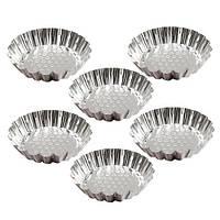 Форми залізні для випікання тарталеток R21614 в наборі 6шт, 8см, форми для випічки, посуд, металева форма