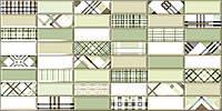Плитка ПВХ Регул Импровизация зеленая 0,4х480х957мм