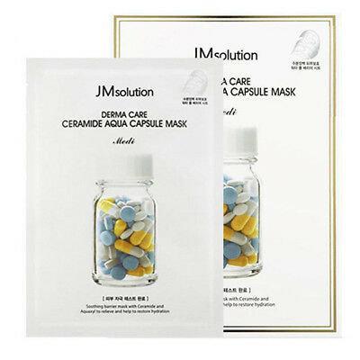Антивозрастная маска с керамидами JM Solution Derma Care Ceramide Aqua Capsule Mask Medi