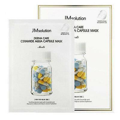 Антивозрастная маска с керамидами JM Solution Derma Care Ceramide Aqua Capsule Mask Medi, фото 2