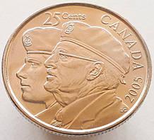 Канада 25 центов 2005 - Год Ветеранов