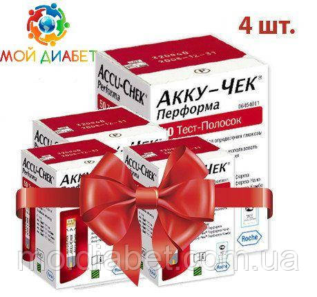 Тест-смужки Accu-Chek Performa 100 шт. 4 упаковки