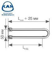 KAN-therm отвод спаренный Push с трубкой Cu d15 с кронштейном 12х2,0 мм Lmin=200 мм, 9016.240