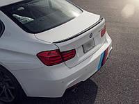 Спойлер сабля тюнинг BMW F30 стиль M3 (пластик) окрешен в черный