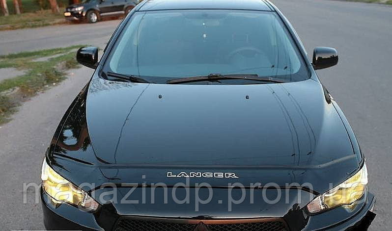 Дефлектор капота (мухобойка) Mitsubishi Lancer 2007- Код:73445439
