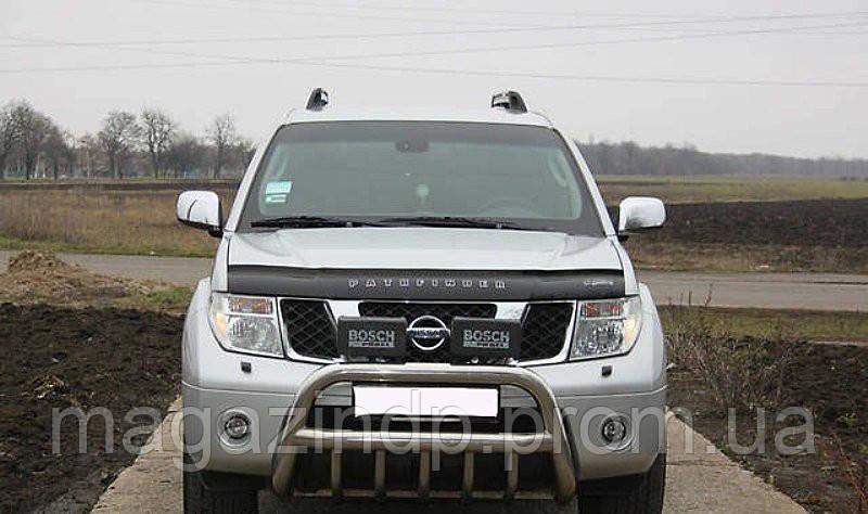 Дефлектор капота (мухобойка) Nissan Phfinder (R51) 2004-2010 Код:73445475