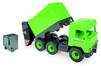 """Авто """"Middle truck"""" мусоровоз (св. зеленый) в коробке"""