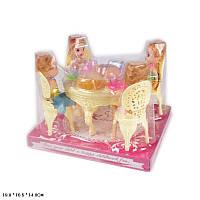 Мебель стол,стулья,куколки,продукты,под слюдой 19*16,5*14 см /60-2/ (A8-85)