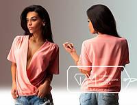 Блуза с  запахом 3049