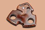 Подставка под курительные трубки из ясеня на 3 шт, фото 3