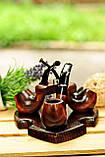 Подставка под курительные трубки из ясеня на 3 шт, фото 6