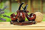 Подставка под курительные трубки из ясеня на 3 шт, фото 2