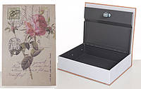Книга-сейф MK 1847-1 (Eiffel Tower) с замком, металл, микс видов, в кульке, 26,5-20-6,5см (Роза)