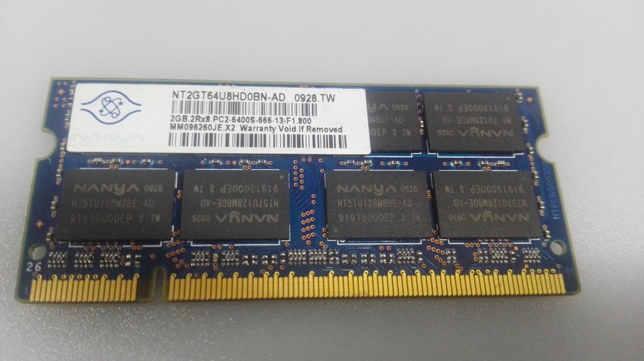 Память для ноутбука ddr2 2gb PC6400 SODIMM
