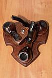Подставка под курительные трубки из ясеня на 3 шт, фото 8