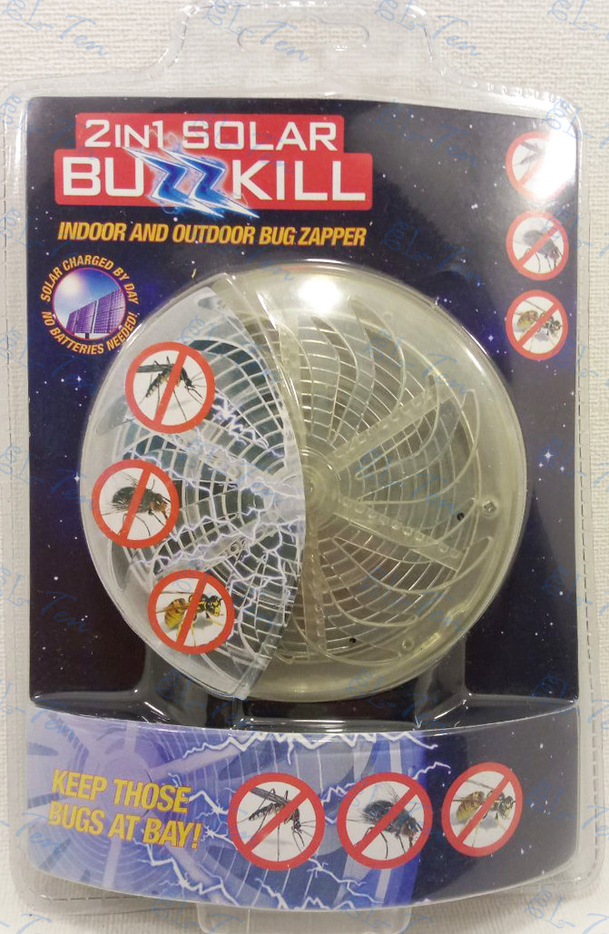 Уничтожитель насекомых на солнечной батарее Solar Buzzkill (PRC)