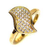 Серебряное кольцо с цирконом, 1083КЦ