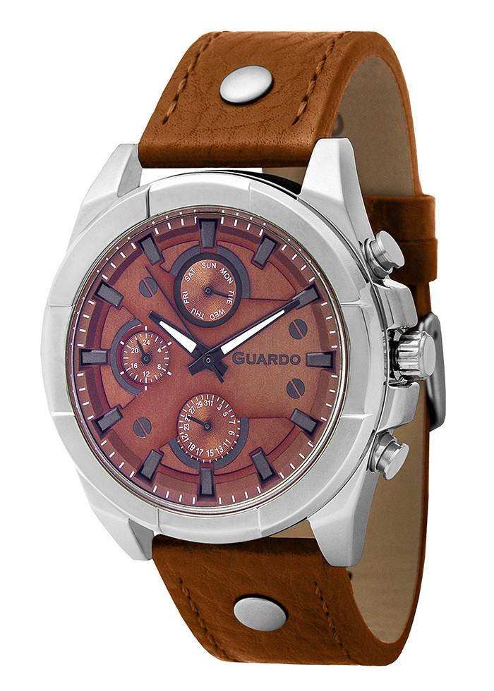 Часы мужские Guardo 10281-7 коричневые