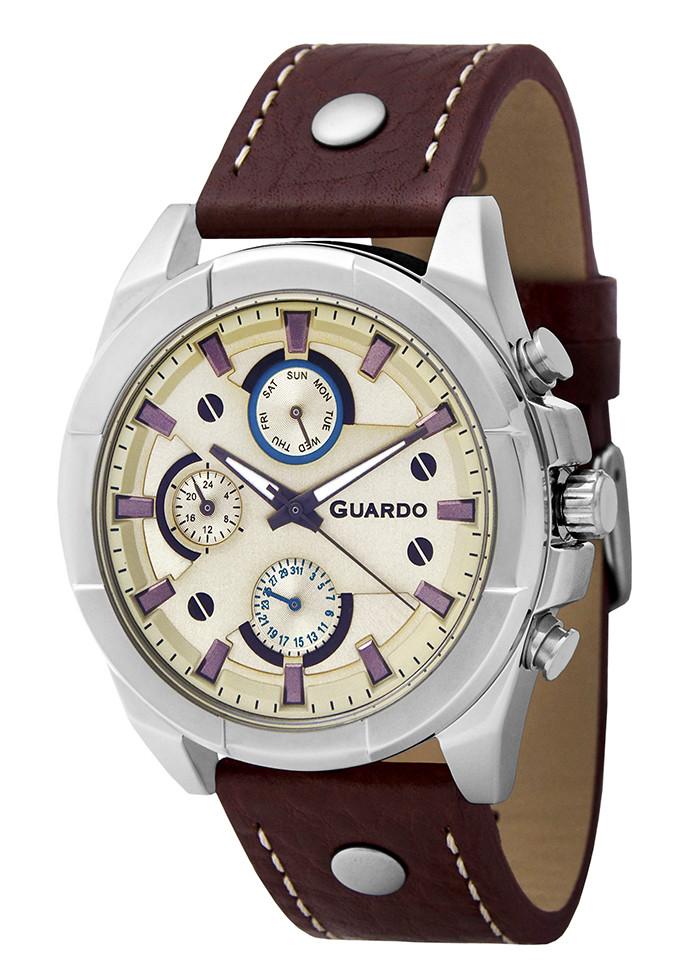 Часы мужские Guardo 10281-8 темно-коричневые