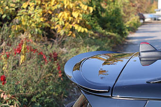 Накладка на спойлер козирёк тюнинг Mini Cooper Clubman F54