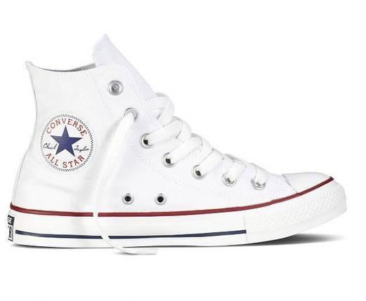 Кеды Converse All Star высокие Replica (реплика) белые, фото 2