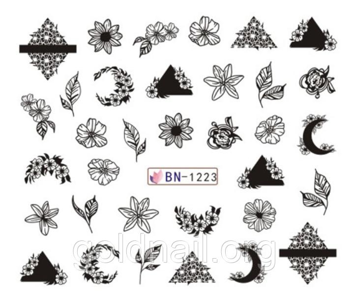 Слайдер водный для дизайна ногтей BN-1223
