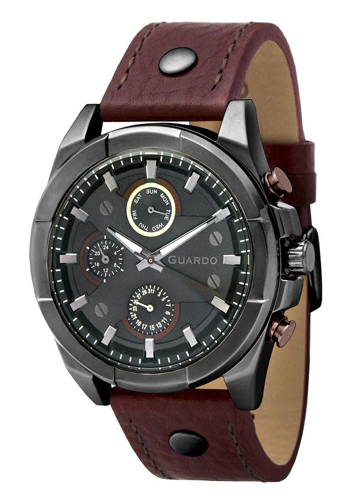 Часы мужские Guardo 10281-9 черные