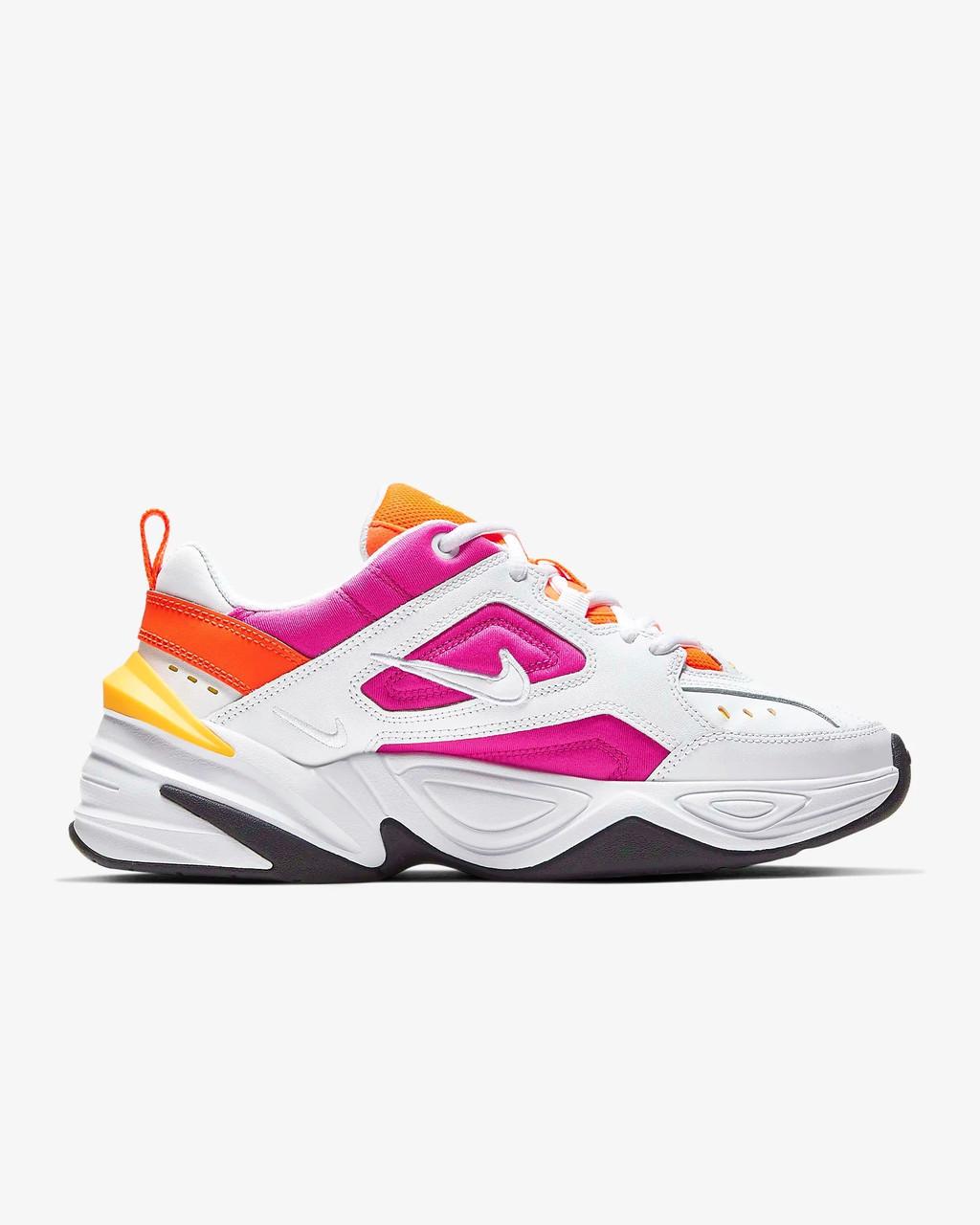 """Кроссовки Nike M2K TEKNO """"Белые\Розовые\Оранжевые"""""""