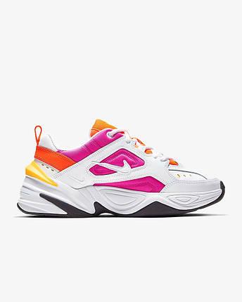 """Кроссовки Nike M2K TEKNO """"Белые\Розовые\Оранжевые"""", фото 2"""