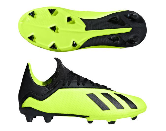 070a75d3 Детские бутсы для футбола Adidas X 18.3 FG J DB2418 салатовые (оригинал)  EUR 38