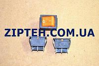 Кнопка универсальная одинарная KСD2(15A/250V,желтая,с подсветкой)