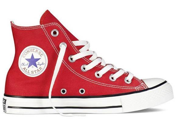 Кеды Converse All Star высокие Replica (реплика) красные, фото 2