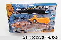 Вертолет запускалка на планш. 21,5*33*4см /144-2/ (4157-18)