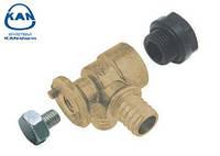 """KAN-therm отвод фиксируемый латунный Push водорозетка 18х2,0 мм/18х2,0 мм, 1/2"""" ВР, 9017.080"""