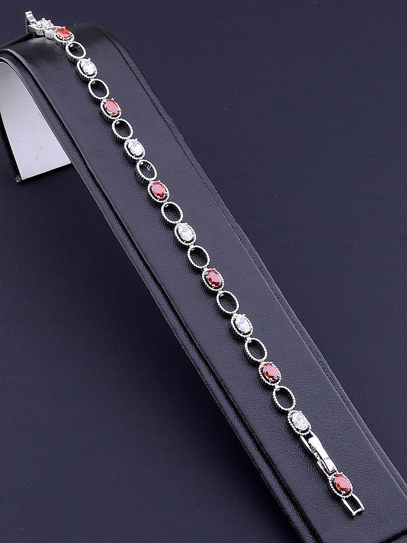 Браслет XUPING Фианит 17 сантиметров длина с родиевым покрытием