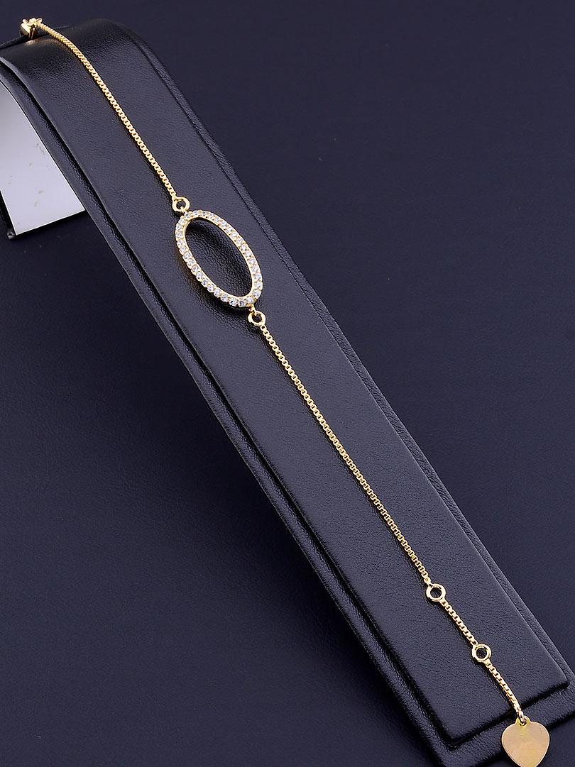Браслет xuping jewelry: Фианит 17 см. (позолота 18к)