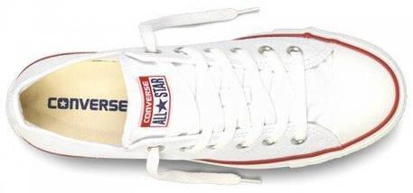Кеды Converse All Star низкие Replica (реплика) белые, фото 3