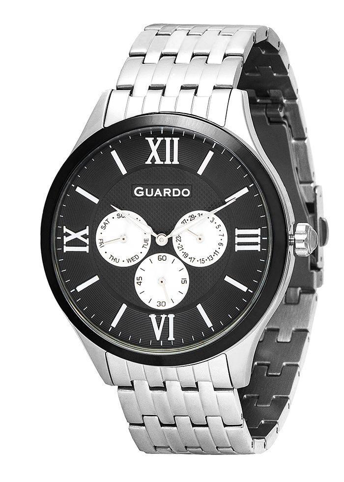 Часы мужские Guardo 11165-1 серебряные